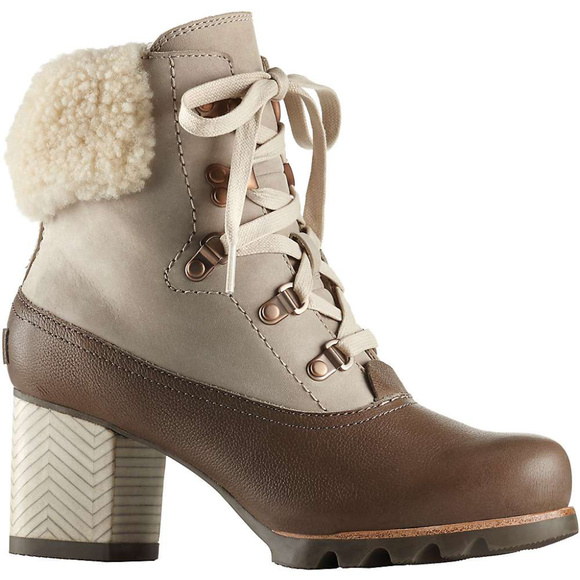 sorel Women's Jayne Lux Waterproof Leather, Nubuck & Fur Lace Up Booties